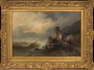 Stormig Kust by Franz Emil KRAUSE