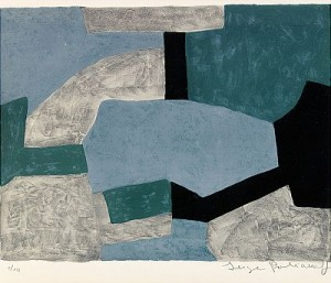 Composition Grise, Verte, Bleue by Serge POLIAKOFF