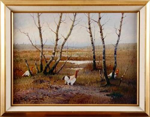 Landskap Med Orrar by Ejnar KOHLMANN