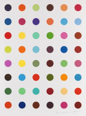 Unique Spot Etching (oleoylsarcosine) by Damien HIRST