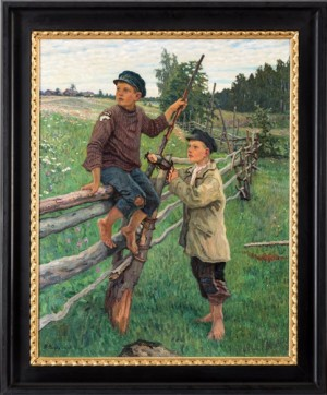 Country Boys by Nikolai Petrovich BOGDANOV-BELSKY