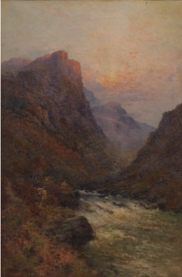 Evening Near Balachulish, N.b. by Alfred Fontville De The Younger BREANSKI