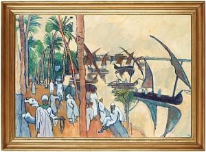 Nilskutor Vid Kairo by Hilding LINNQVIST