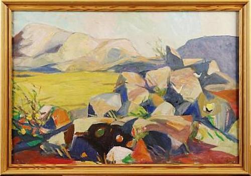 Solbelysta Klippor by Carl GUNNE
