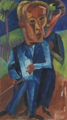 Der Maler Otto Schubert Und Frau by Conrad FELIXMÜLLER