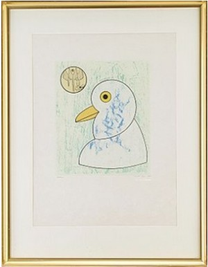 Oiseau En Peril: One Plate by Max ERNST