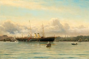 The Russian Imperial Yacht Polar Star In The Harbour Of Copenhagen by Holger LÜBBERS