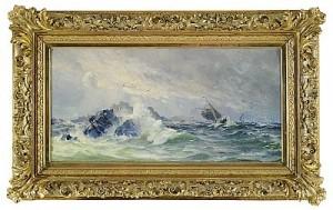 Skepp Vid Bränningar by Herman Af SILLÉN