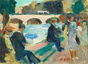 People By The Seine by Francois GALL