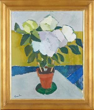 Stilleben Med Blommor by Helge FRENDER