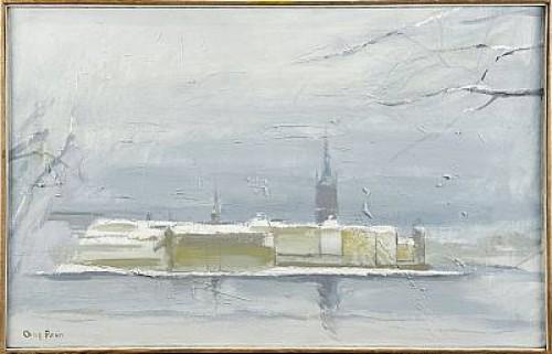 Vinterutsikt - Riddarholmen by Olof ARÉN