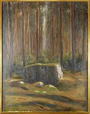 Skogslandskap by Algot RINGSTRÖM