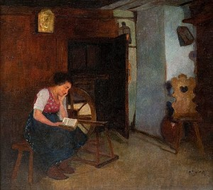 A Woman Reading by Carl DUXA