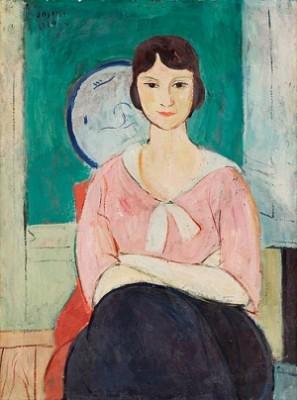 Modell I Rosa Blus by Einar JOLIN