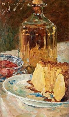 Tårta Och Brännvinskaraff by Nils KREUGER
