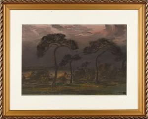 Landskap Med Träd by John STEN