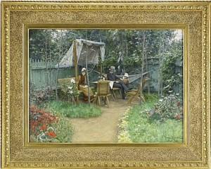Trädgårdsinteriör Från Linköping by Johan KROUTHÉN