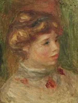 Portrait De Femme by Pierre Auguste RENOIR