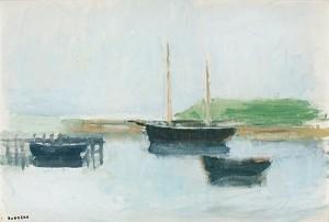 Hamnmotiv by Gustav RUDBERG