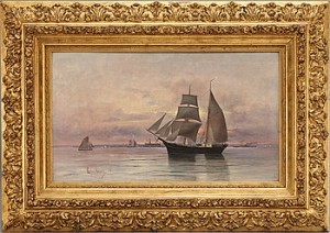 Fartyg I öresund by Valfrid NELSON
