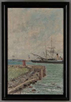 Skeppsmotiv by Hjalmar TRAFVENFELT