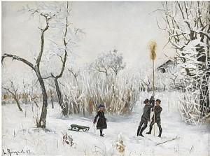Barn I Vinterlandskap by Lotten RÖNQUIST
