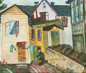 Motiv Från Hagalund by Olle OLSSON HAGALUND
