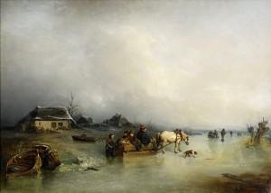Slädfärd På Is - Strandmotiv by Per WICKENBERG