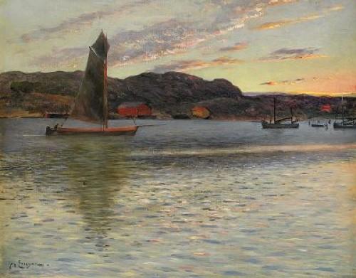 Aftonljus över Marstrand by Johan ERICSON