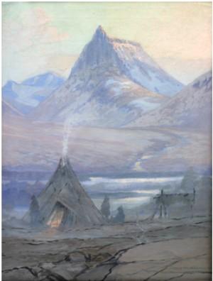 Lappkåta I Fjällandskap by Olof Walfrid NILSSON