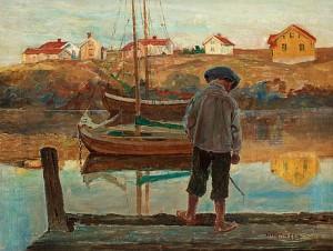 Pojke På Brygga by Carl WILHELMSON