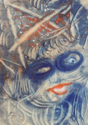 Woman In A Carnival Mask by Anatolii Timofeevich 'Az' ZVEREV