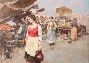 Torghandel Med Folkmyller by Guiseppe PITTO
