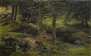 Skogstjärn by Berndt LINDHOLM
