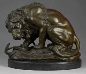 Lion Et Serpent by Antoine-Louis BARYE