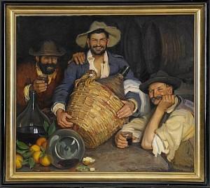 Tre Spanska Vinbönder by Ivar KAMKE