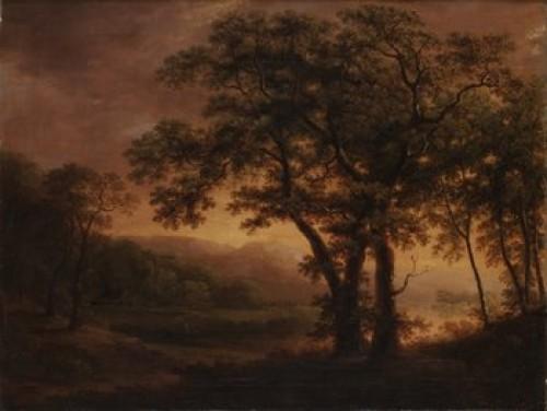 Romantiskt Insjölandskap by Carl Johan FAHLCRANTZ