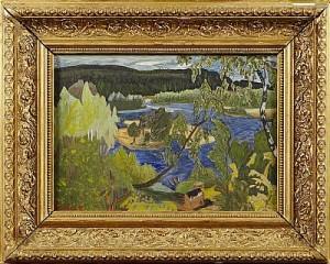 Landskapsbild by Arvid ÖSTRÖM