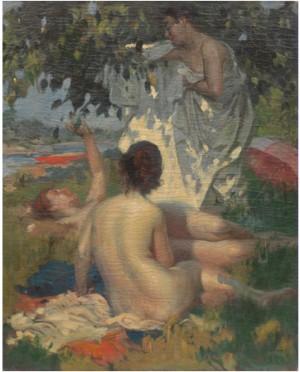 Bathers by Louis JAMBOR