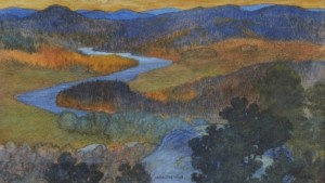 Norrländskt Landskap Om Hösten by Helmer OSSLUND