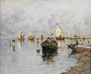 Lagunen - Venedig by Wilhelm Von GEGERFELT