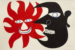Red Sun, Black Moon by Alexander CALDER