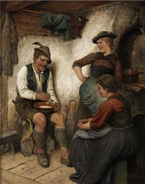 Bäuerliche Genreszene by Maximilian WACHSMUTH