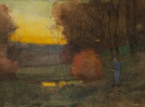 An Autumn Sunset by Charles Austin NEEDHAM