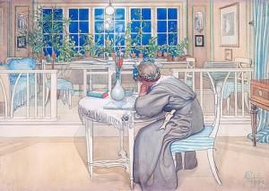 Kvällen Före Resan Till England by Carl LARSSON