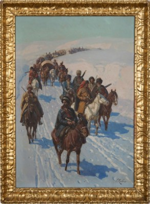 Circassian Troops by Franz Alexeivich ROUBAUD