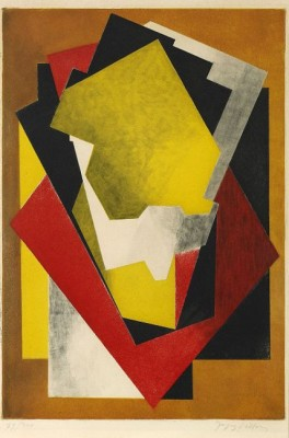 Composition, (lit: Ginestet/pouillon E660) by Jacques VILLON