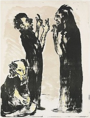 Diskussion by Emil NOLDE