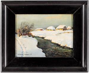 Polskt Vinterlandskap by Wiktor KORECKI