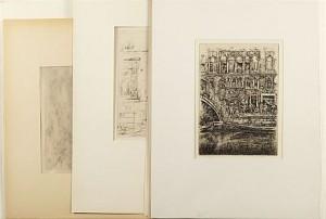 31 Etsningar Samt 4 Tuschteckningar by Reinhold Von ROSEN
